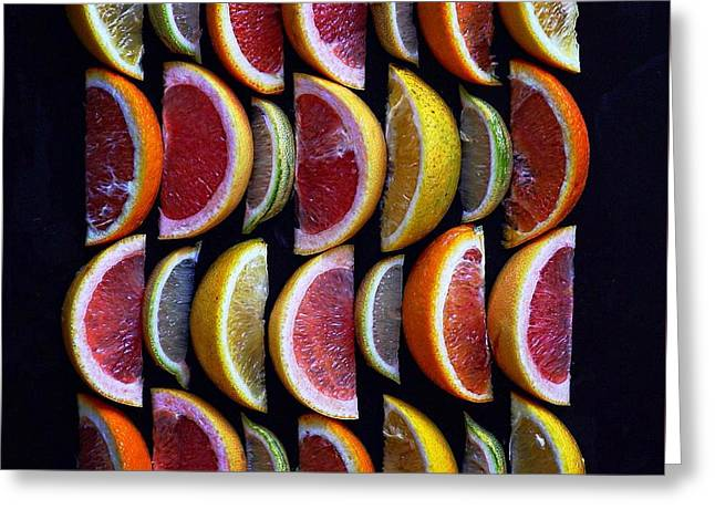Wavy Citrus Lineage Greeting Card
