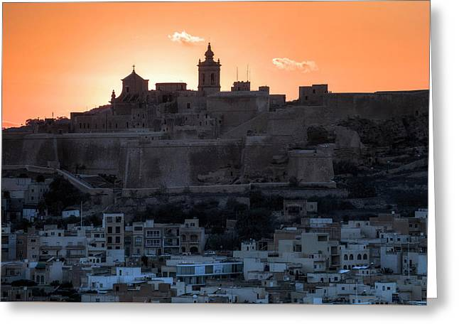 Cittadella - Gozo Greeting Card by Joana Kruse