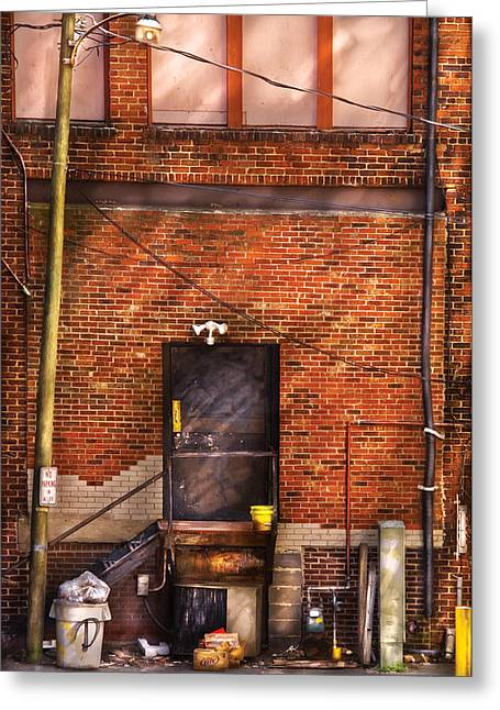 City - Door - The Back Door  Greeting Card by Mike Savad