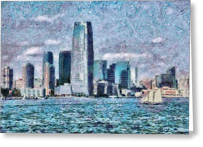 City - Ny - City Of The Future Greeting Card by Mike Savad