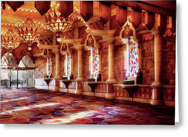 City - Vegas - Excalibur - In The Great Hall  Greeting Card by Mike Savad