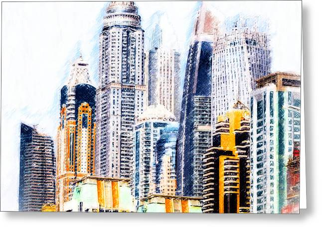 City Abstract Greeting Card