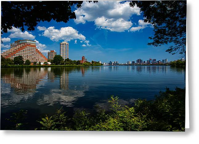City Along The Charles Greeting Card