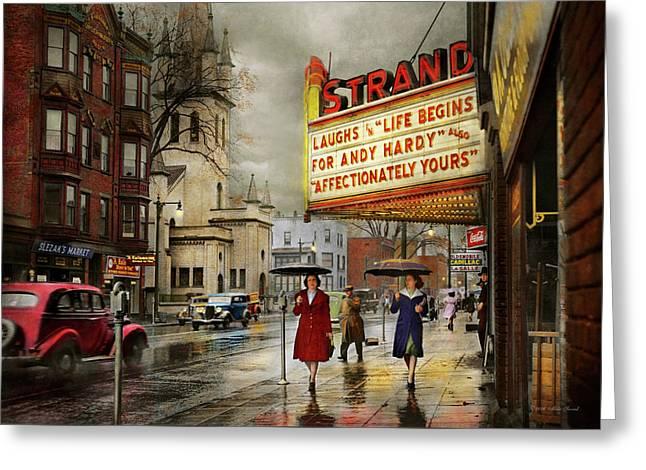 City - Amsterdam Ny - Life Begins 1941 Greeting Card