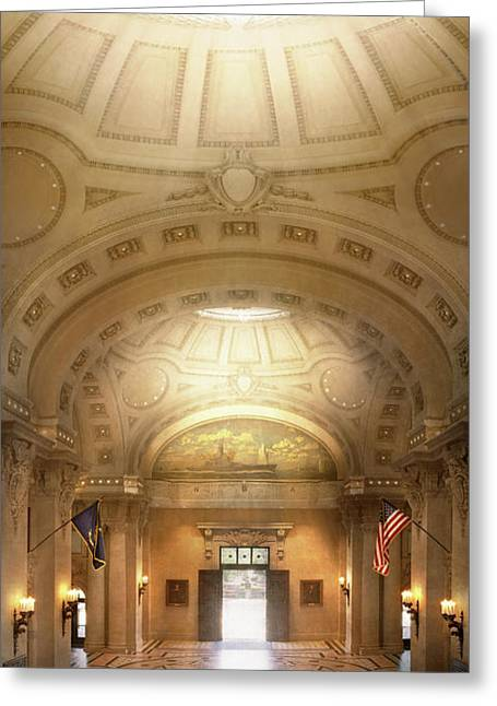 Greeting Card featuring the photograph City - Annapolis Md - Bancroft Hall by Mike Savad