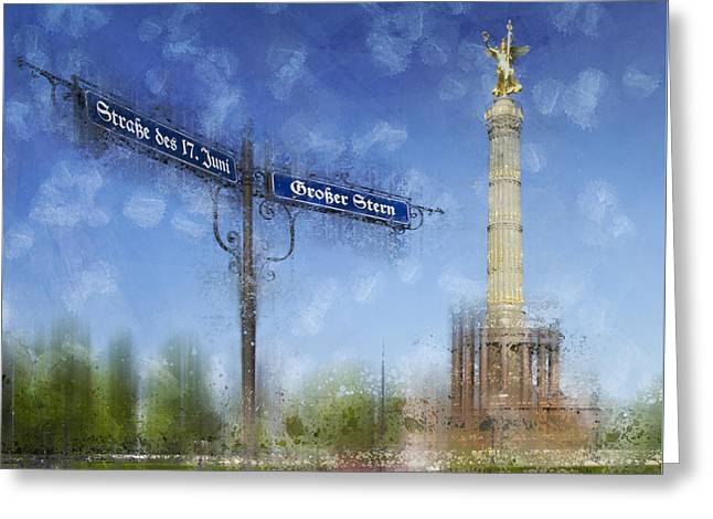 City-art Berlin Victory Column Greeting Card
