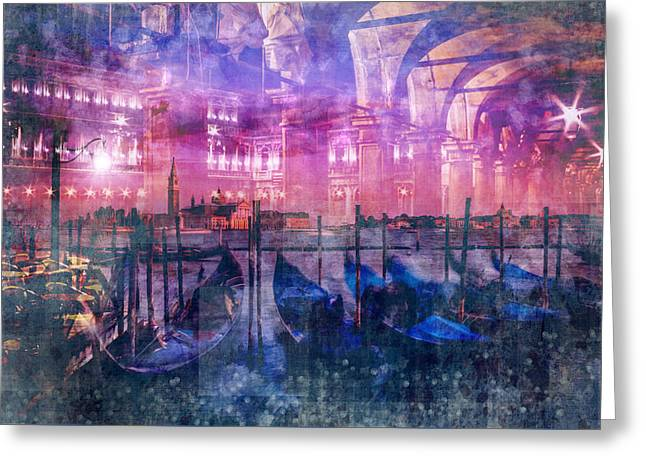 City-art Venice Composing Greeting Card by Melanie Viola