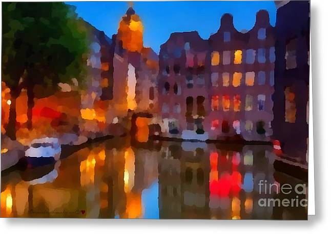 City Block 900 Soft And Dreamy In Thick Paint Greeting Card