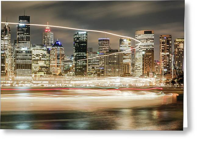 City Blur Greeting Card