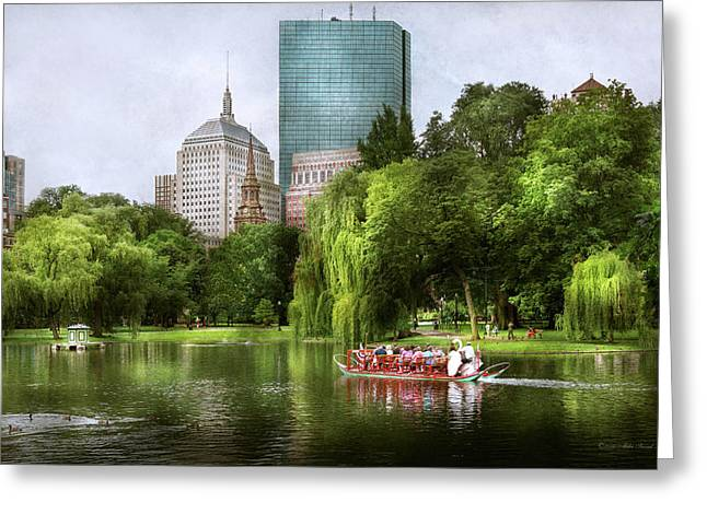 City - Boston Ma - Boston Public Garden Greeting Card