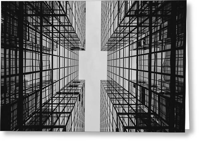 City Buildings Greeting Card by Marianna Mills