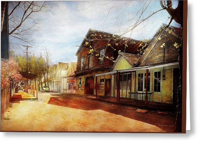 City - California - The Town Of Downieville 1933 Greeting Card