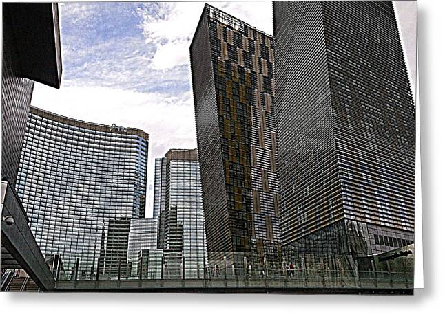 City Center At Las Vegas Greeting Card