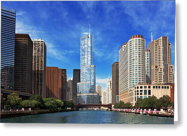 City - Chicago Il - Trump Tower Greeting Card