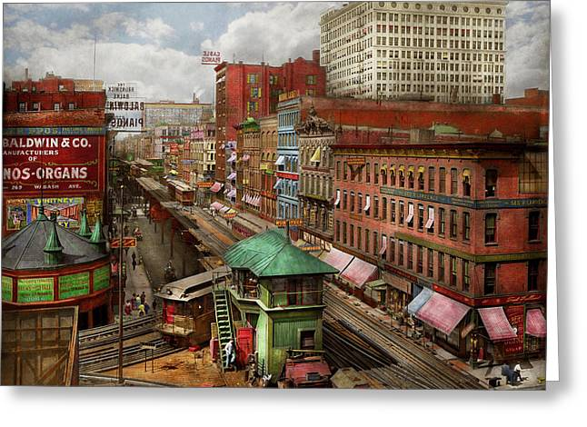 City - Chicago - Piano Row 1907 Greeting Card