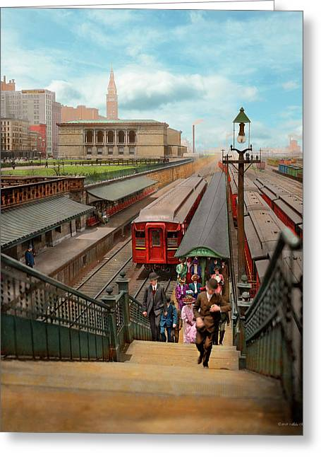 City - Chicago - The Van Buren Street Station 1907 Greeting Card