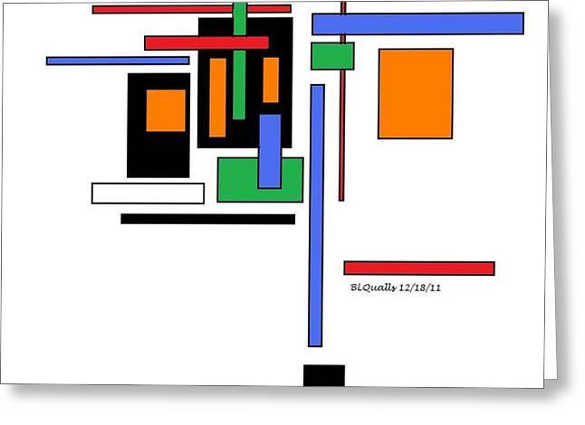 City Colors 2 Greeting Card by B L Qualls