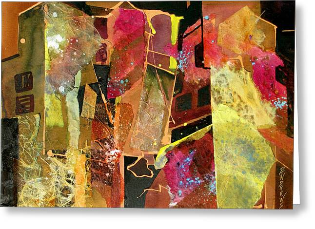 City Colors Greeting Card by Rae Andrews