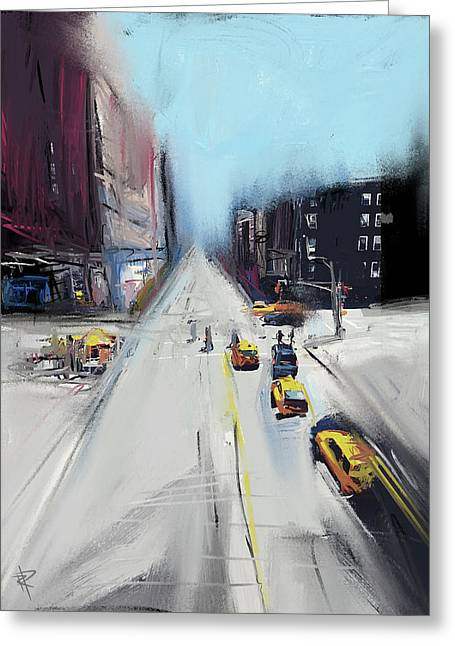 City Contrast Greeting Card by Russell Pierce