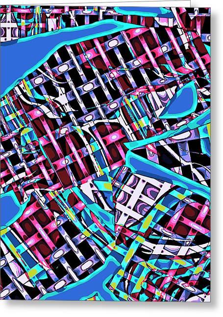 City Crossings Greeting Card by Jarmila Kostliva