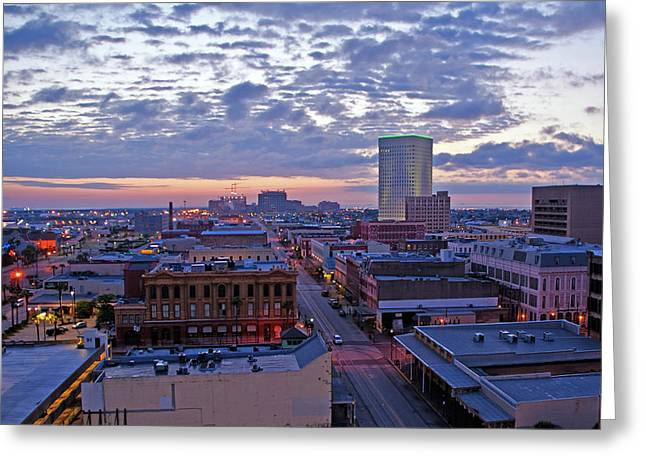 City Dawn Greeting Card by John Collins