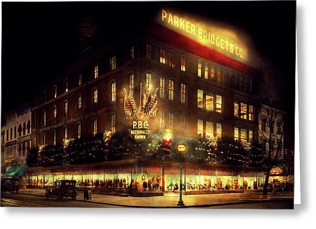 City - Dc - Parker And Bridget Co 1921 Greeting Card by Mike Savad