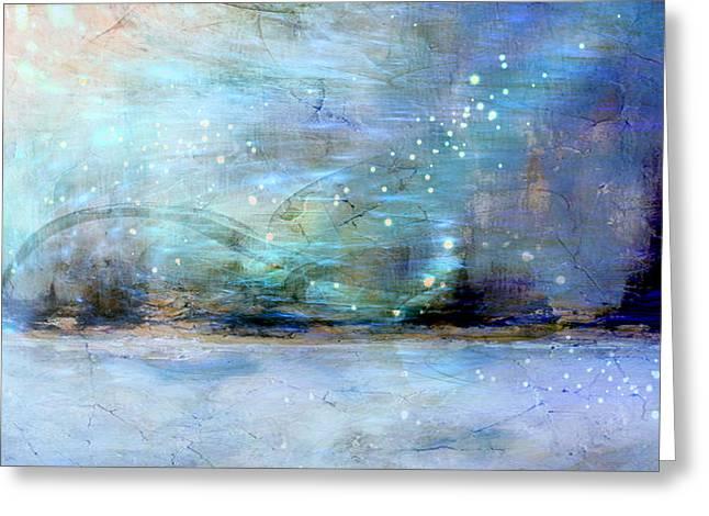 Greeting Card featuring the digital art City Dream by Linda Sannuti