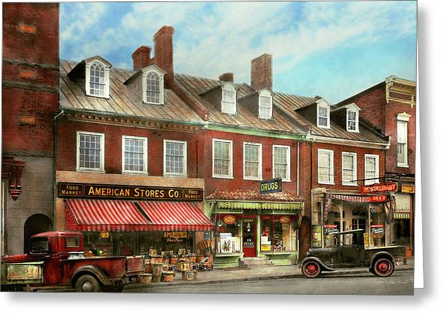 City - Easton Md - A Slice Of American Life 1936 Greeting Card