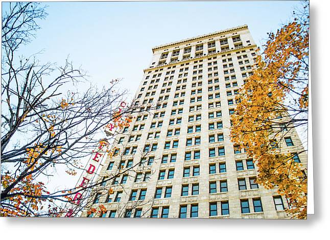 Greeting Card featuring the photograph City Federal Building In Autumn - Birmingham, Alabama by Shelby Young