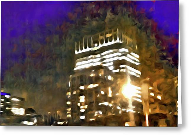City Flames Greeting Card