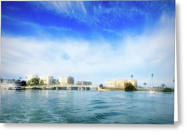 City Flare Clearwater Florida Greeting Card