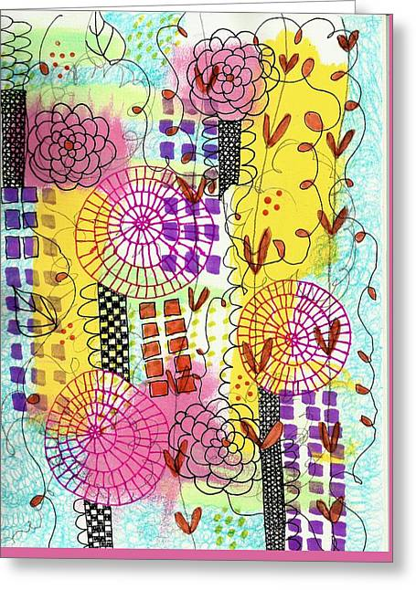 City Flower Garden Greeting Card