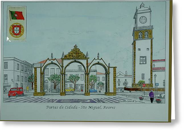 City Gates, San Miguel,azores Greeting Card by William Goldsmith
