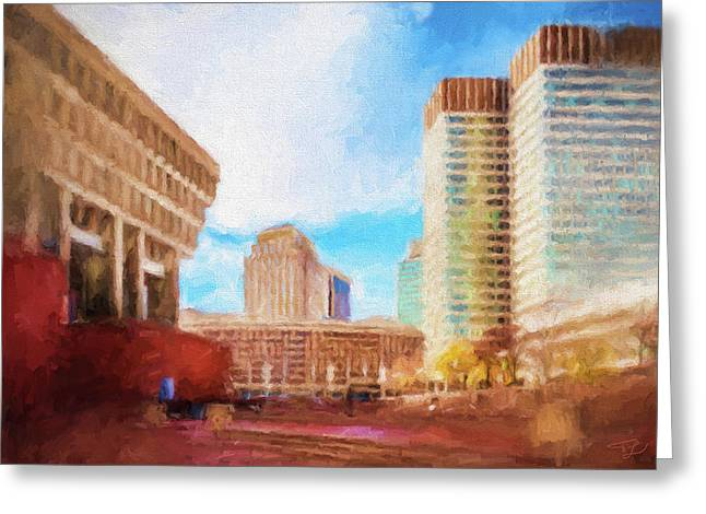 City Hall At Government Center Greeting Card