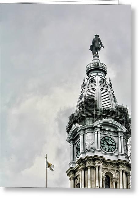 City Hall Ben Franklin Greeting Card