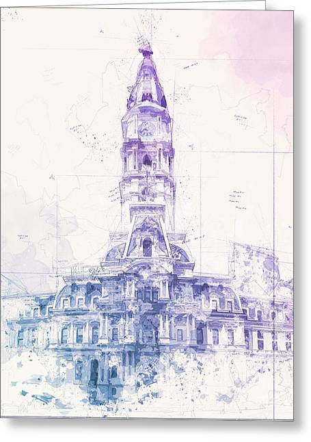City Hall  Greeting Card by The Styles Gallery