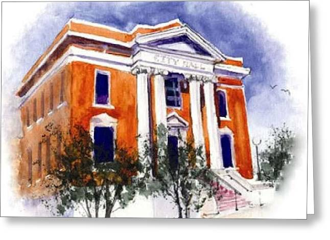 City Hall  Hattiesburg  Mississippi Greeting Card by Bobby Walters