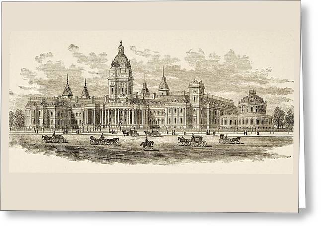 City Hall In San Francisco, California Greeting Card by Vintage Design Pics
