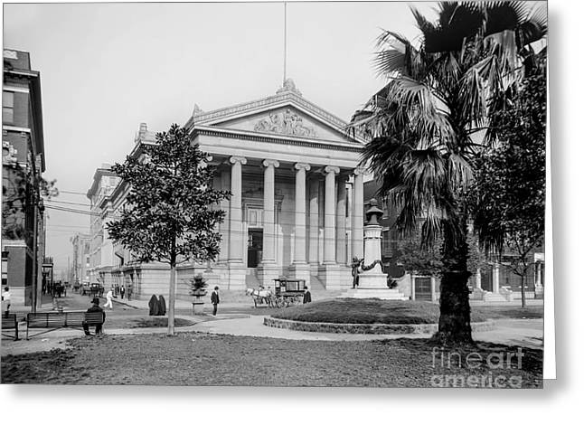 City Hall  Lafayette Square, New Orleans 1890 Greeting Card by Jon Neidert