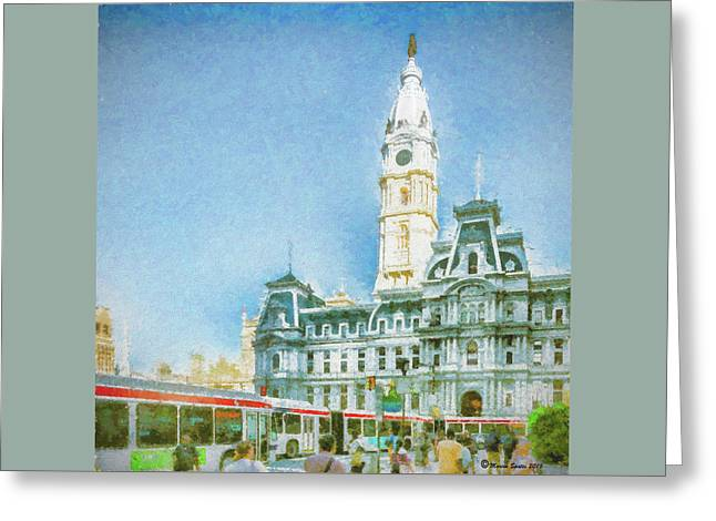 City Hall Greeting Card by Marvin Spates