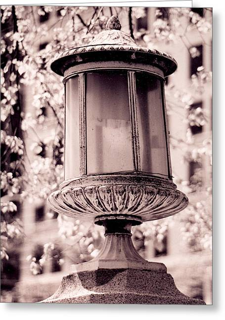 City Lamp Greeting Card