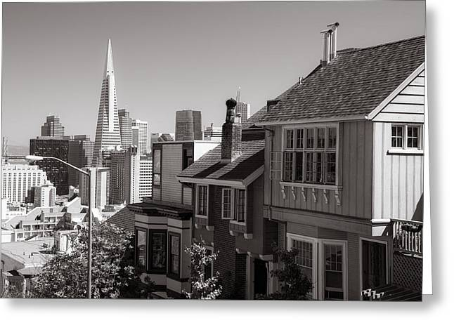 City Life Greeting Card by Clay Townsend