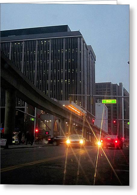 City Life Swarms Greeting Card