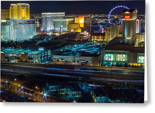 City Lifescape View Las Vegas Greeting Card