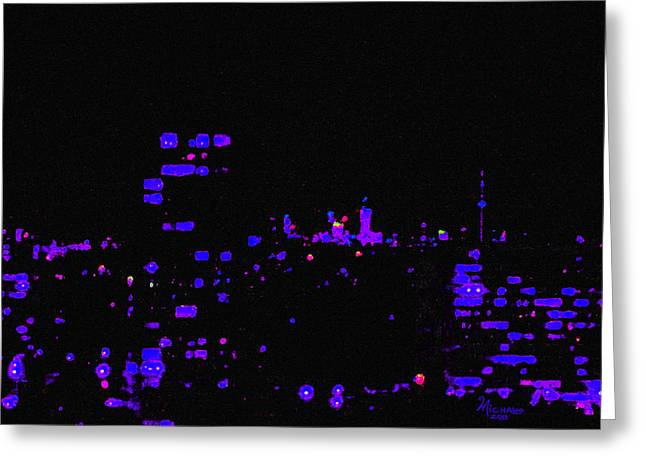 City Lights Greeting Card by Michael A Klein