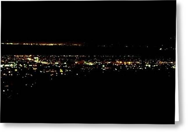 City Lights Greeting Card by Michael Grubb