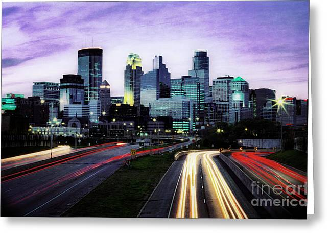 City Moves Greeting Card
