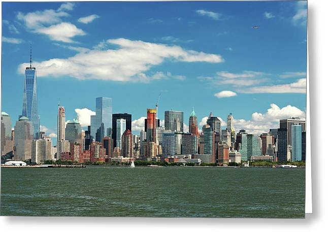 Greeting Card featuring the photograph City - New York Ny - The New York Skyline by Mike Savad