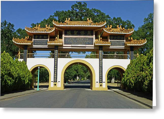 City Of Ten Thousand Buddhas Greeting Card by K L Kingston