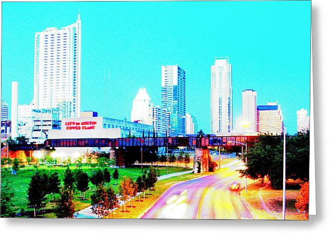 City Of Austin From The Walk Bridge 2 Greeting Card